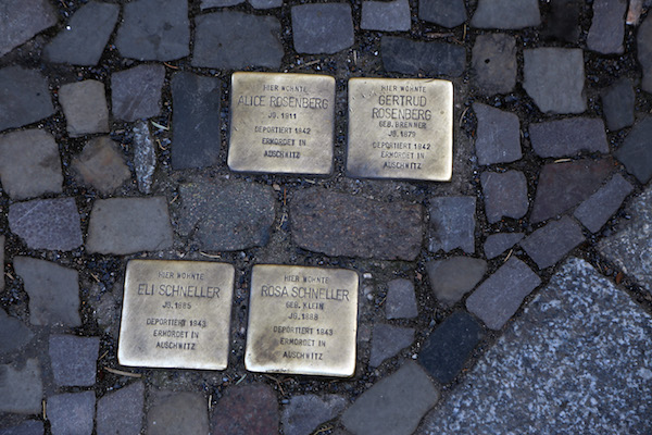 Photo of stolperstein in Berlin by Bob the Lomond.